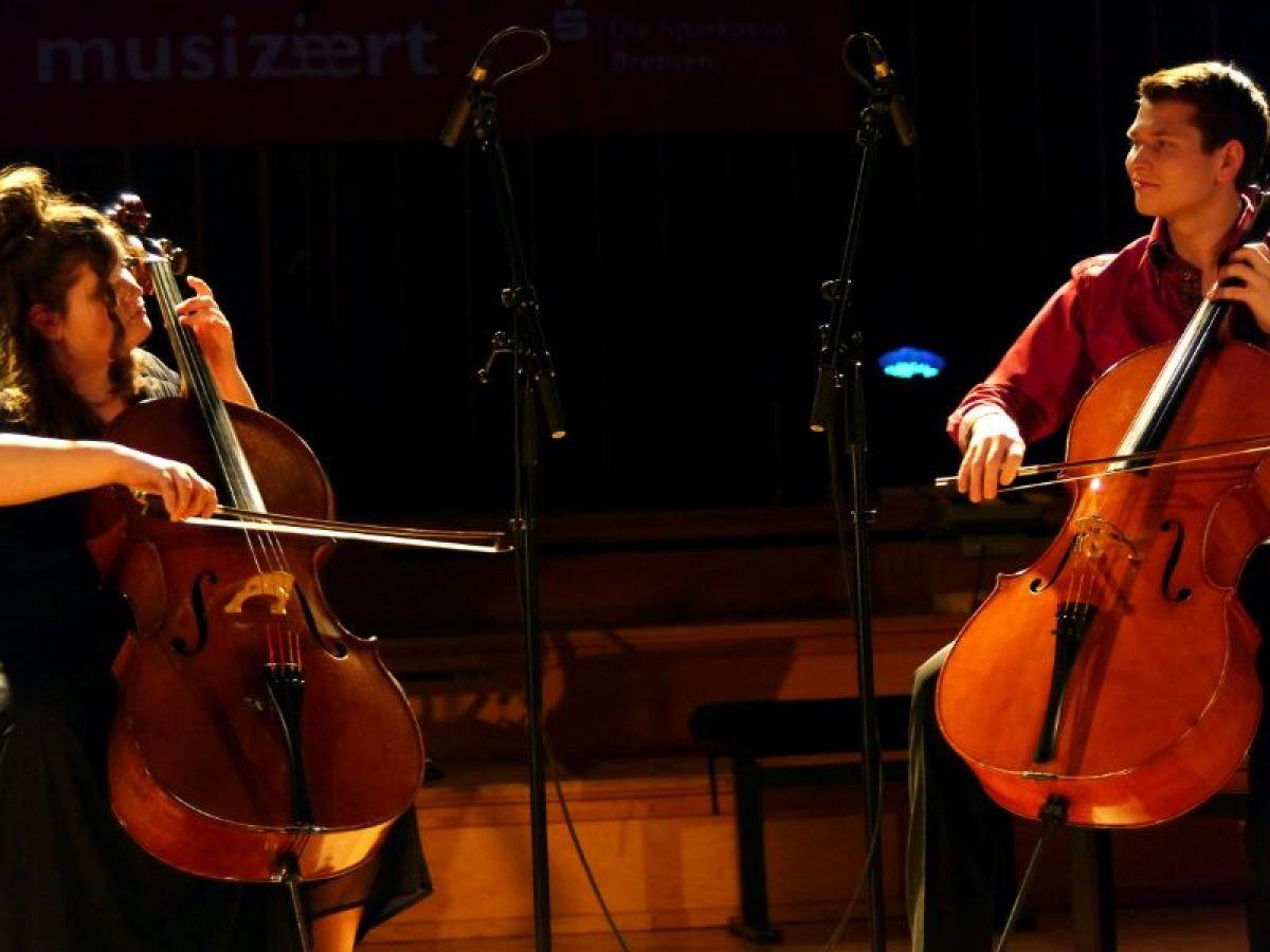 Sophie und Leonard Rees beim Abschlusskonzert am 12.03.2014 im Sendesaal in Bremen